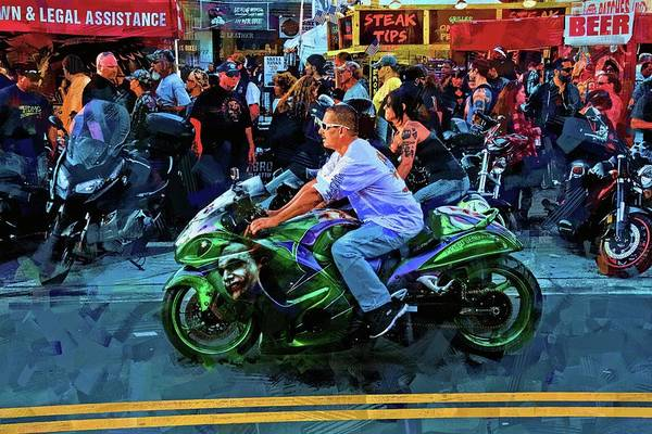 Daytona Bike Week Wall Art - Photograph - Steak Tips by Alice Gipson