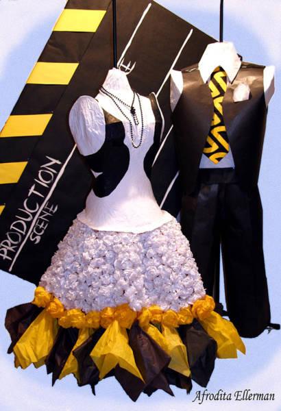 Paper Dress Mixed Media - Stealing The Spotlight  by Afrodita Ellerman