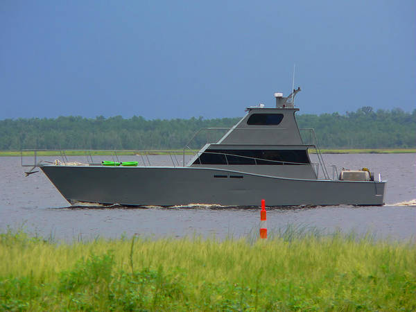 Photograph - Stealth Boat In The Bay by Kathy K McClellan