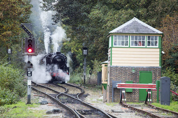 Photograph - Steam Engine Approaching Alton by Tony Mills