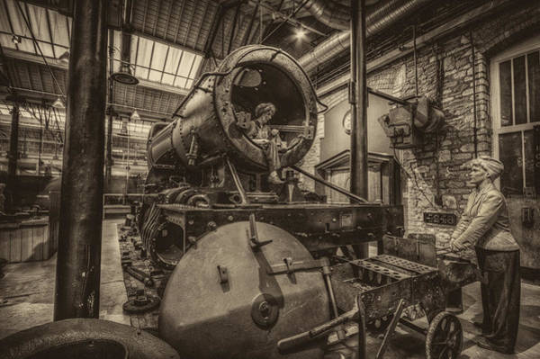Photograph - Steam Engine Boiler Shop by Clare Bambers