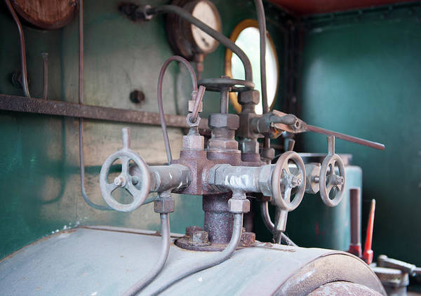 Photograph - Steam Engine Controls by Helen Northcott