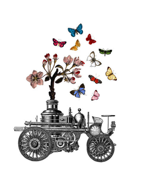 Wall Art - Digital Art - Steam Engine Of Life by Madame Memento