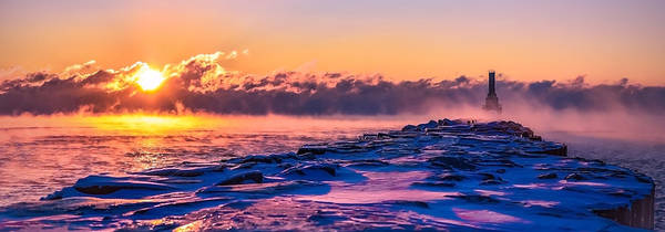 Photograph - Steam Fog Two Panorama by James Meyer
