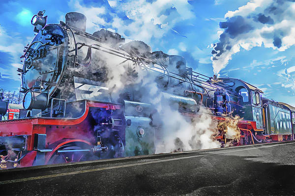 Painting - Steam by Harry Warrick