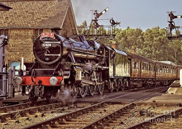Steam Loco On Yorkshire Railway Art Print