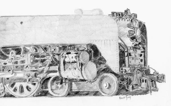 Drawing - Steam Loco Sketch by David King