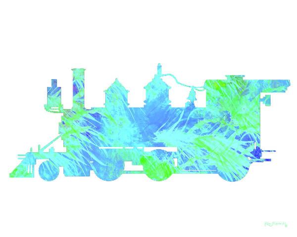 Diesel Trains Painting - Steam Locomotive Art 3 by Ken Figurski