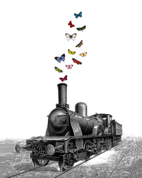 Machines Digital Art - Steam Locomotive by Madame Memento