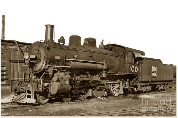 Photograph - Steam Locomotive Of The Western Pacific No. 100 Circa 1937 by California Views Archives Mr Pat Hathaway Archives