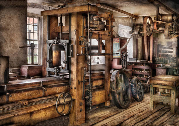 Printer Photograph - Steam Punk - The Press by Mike Savad
