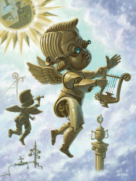Digital Art - Steam Punk Cherubs by Martin Davey