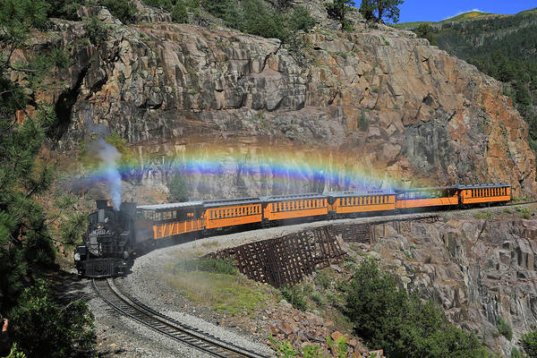 Silverton Photograph - Steam Rainbow by Donna Kennedy