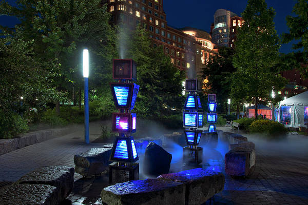 Photograph - Steam Sculpture Garden Boston - Rose Kennedy Greenway by Joann Vitali