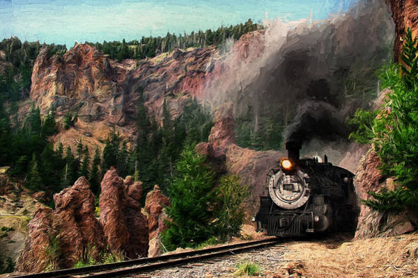 K-36 Photograph - Steam Through The Rock Formations by Ken Smith