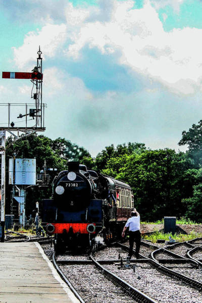 Steam Train Approaching Art Print