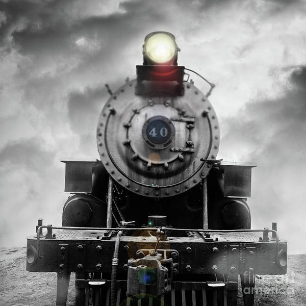 Wall Art - Photograph - Steam Train Dream Square by Edward Fielding