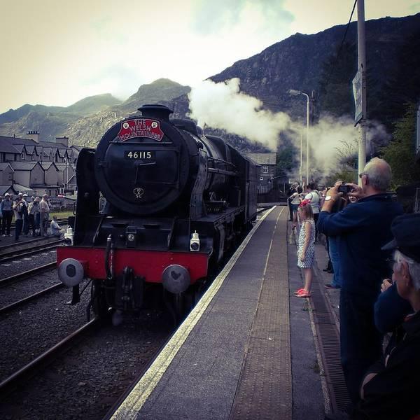 Photograph - Steam Train, Ffestiniog, North Wales by Samuel Pye