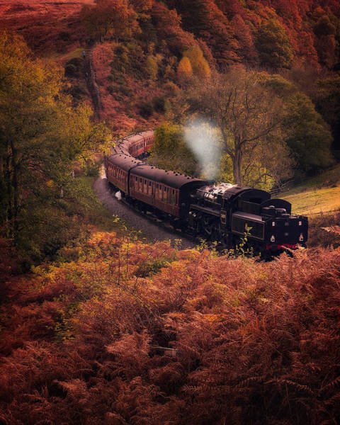 Wall Art - Photograph - Steam Train Goathland North Yorkshire by Ian Barber