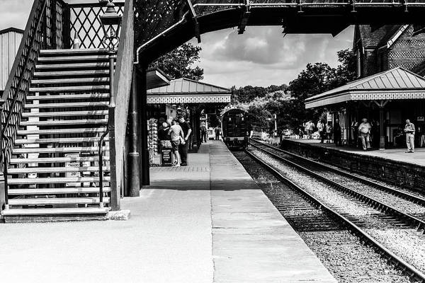 Steam Train In The Station Art Print