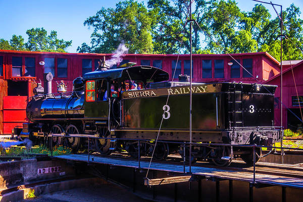 Roundhouse Photograph - Steam Train No 3 On The Turntable by Garry Gay