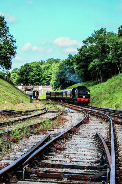 Steam Train Nr The Bridge Art Print
