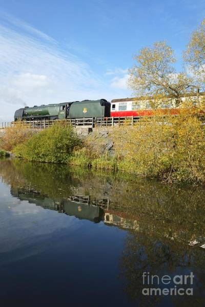 Photograph - Steam Train Reflection At Butterley by David Birchall