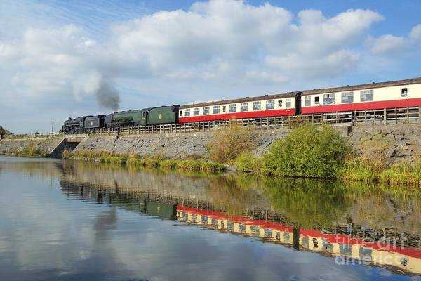 Photograph - Steam Train Reflections by David Birchall