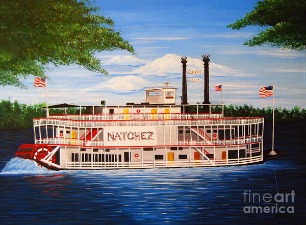 Mississippi River Drawing - Steamboat On The Mississippi by Valerie Carpenter