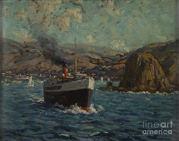 Steamer Leaving Avalon, Catalina Art Print