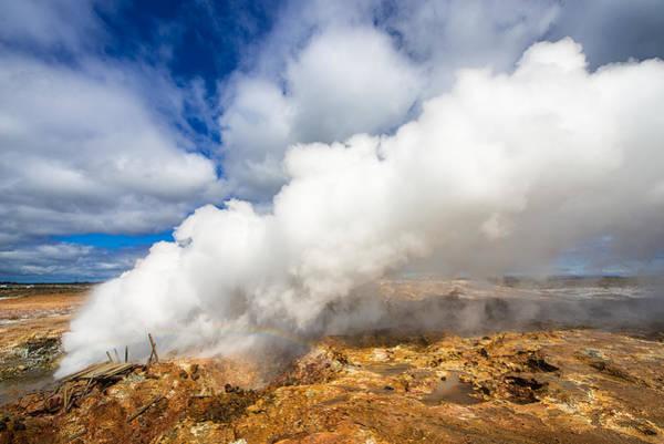 Photograph - Steaming Gunna - Gunnuvher Hot Spring Iceland by Matthias Hauser