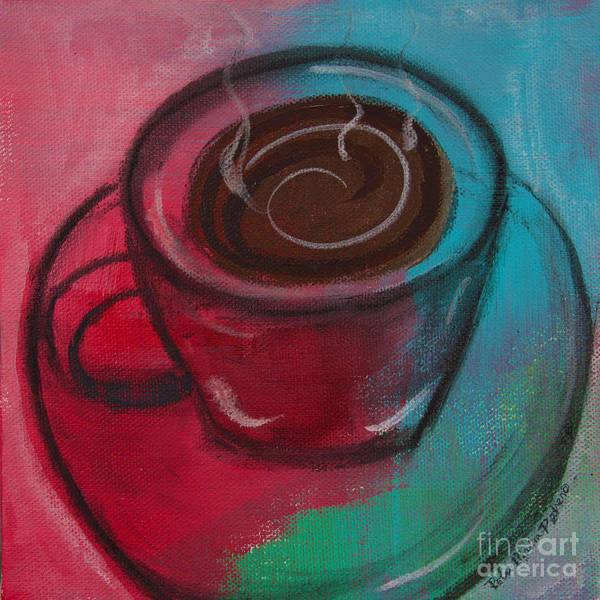 Painting - Steaming Hot Coffee by Robin Maria Pedrero