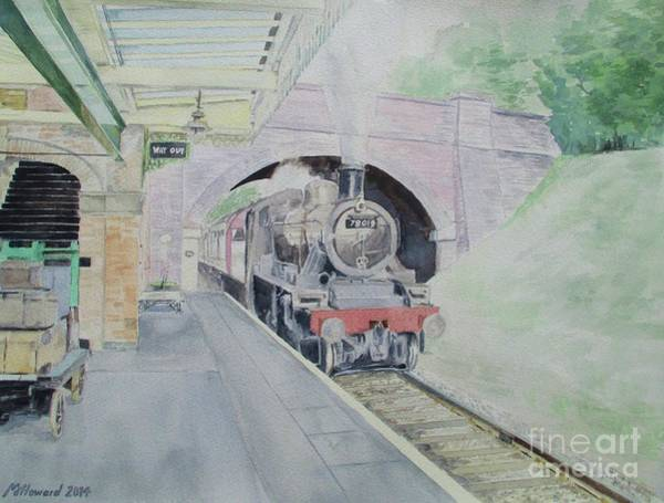 Great Central Railway Painting - Steaming Into Rothley by Martin Howard