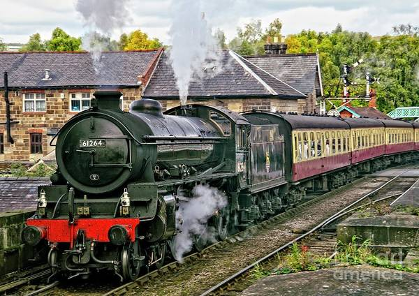 Photograph - Steaming Out Of Grosmont Station by Martyn Arnold