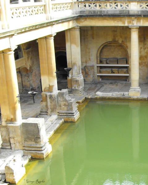 Wall Art - Photograph - Steaming Pool Roman Bath by Ginger Repke
