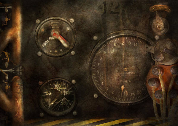 Wall Art - Photograph - Steampunk - Check Your Pressure by Mike Savad
