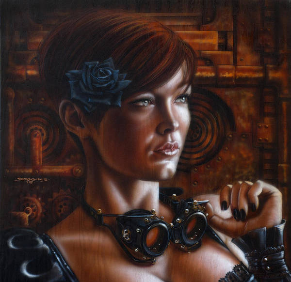 Steampunk Painting - Geared Up by Timothy Scoggins