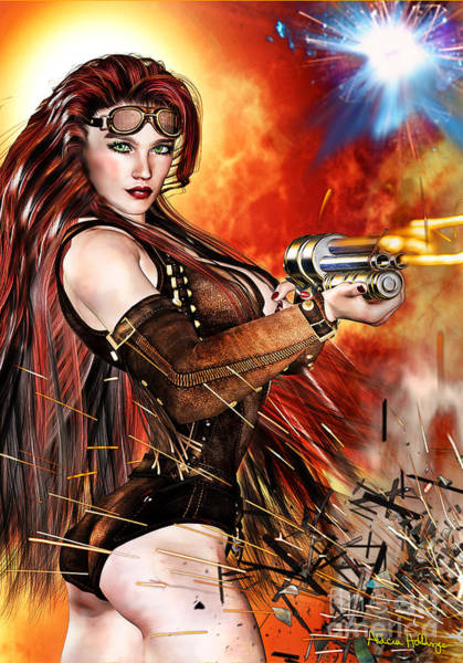Mixed Media - Steampunk Apocalypse by Alicia Hollinger