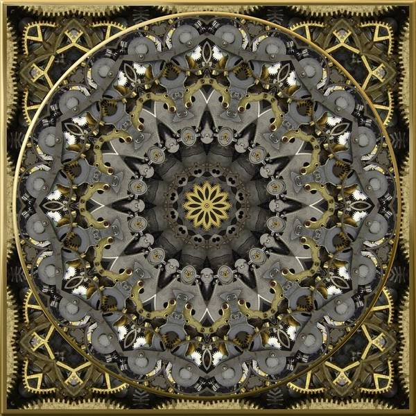 Digital Art - Steampunk Brass And Steel No. 1 by Charmaine Zoe