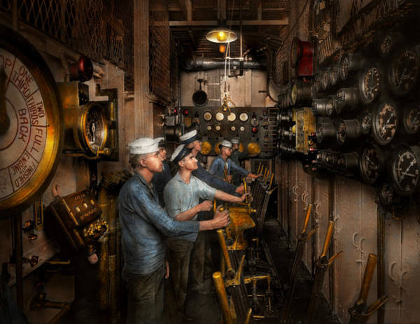 Photograph - Steampunk - Controls On The Uss Washington 1920 by Mike Savad
