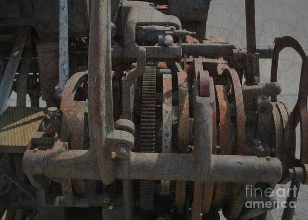 Photograph - Steampunk Gears Wheels And Levers 2 by Luther Fine Art