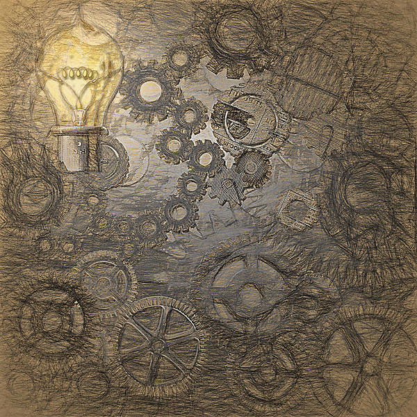 Wall Art - Digital Art - Steampunk Ideation - Da Vinci Styling by Steve Ohlsen