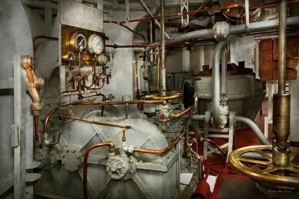 Photograph - Steampunk - In The Engine Room by Mike Savad