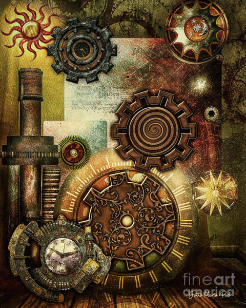 Digital Art - Steampunk by Jutta Maria Pusl