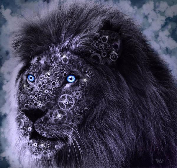 Digital Art - Steampunk Lion by Artful Oasis
