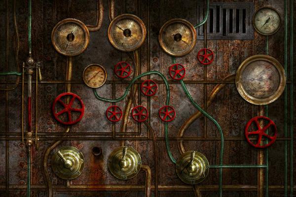 Wall Art - Photograph - Steampunk - Plumbing - Job Jitters by Mike Savad
