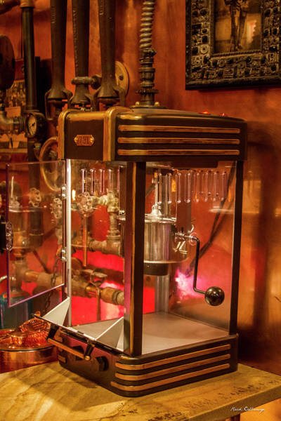 Photograph - Steampunk Interior Design Popcorn Machine Medieval Barart by Reid Callaway