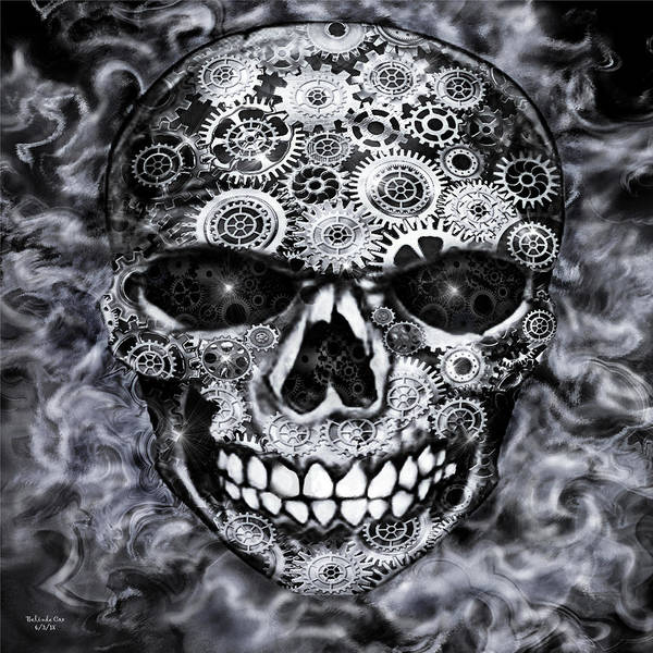 Digital Art - Steampunk Skull by Artful Oasis