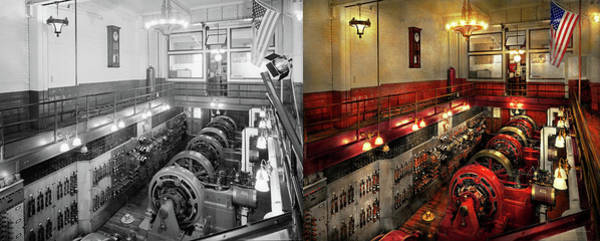 Photograph - Steampunk - The Engine Room 1974 - Side By Side by Mike Savad