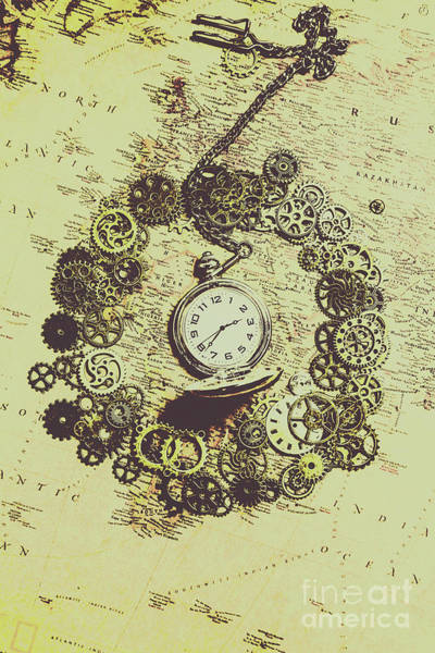 Wall Art - Photograph - Steampunk Travel Map by Jorgo Photography - Wall Art Gallery